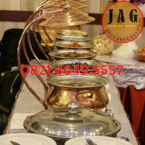 jual penghangat makanan tembaga, harga pemanas makanan tembaga, pemanas makanan tembaga, chafing dish tembaga, chafing dish, Jaya Art Galery